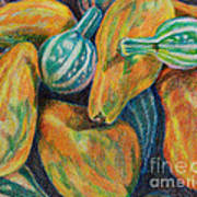 Gourds For Sale Art Print by Janet Felts