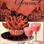 Gourmet Cover Featuring A Basket Of Potato Curls Art Print