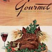 Gourmet Cover Featuring A Boar's Head Art Print