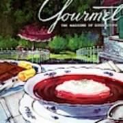 Gourmet Cover Featuring A Bowl Of Borsch Art Print