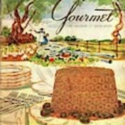 Gourmet Cover Featuring A Buffet Farm Scene Art Print