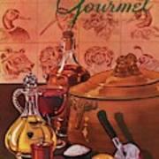 Gourmet Cover Featuring A Casserole Pot Art Print