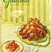 Gourmet Cover Featuring A Plate Of Beignets Art Print