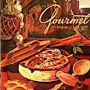 Gourmet Cover Featuring A Pot Of Stew Art Print