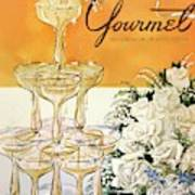 Gourmet Cover Featuring A Pyramid Of Champagne Art Print
