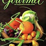 Gourmet Cover Featuring A Variety Of Fruit Art Print