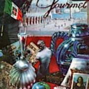 Gourmet Cover Featuring A Variety Of Italian Art Print