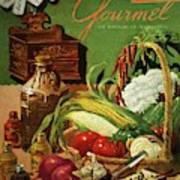 Gourmet Cover Featuring A Variety Of Vegetables Art Print