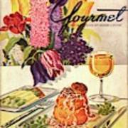 Gourmet Cover Featuring Sweetbread And Asparagus Art Print