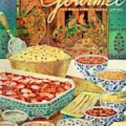 Gourmet Cover Featuring Various Indian Dishes Art Print