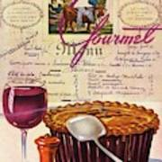 Gourmet Cover Illustration Of Deep Dish Pie Art Print