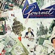 Gourmet Cover Illustration Of Drawings Portraying Art Print
