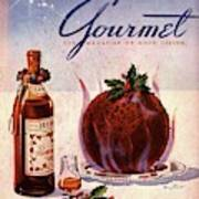 Gourmet Cover Illustration Of Flaming Chocolate Art Print