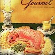Gourmet Cover Illustration Of Salmon Mousse Art Print
