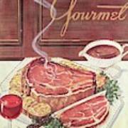 Gourmet Cover Of A Roast Beef Art Print
