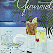 Gourmet Cover Of Cocktails Art Print