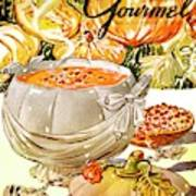 Gourmet Cover Of Pumpkin Soup Art Print
