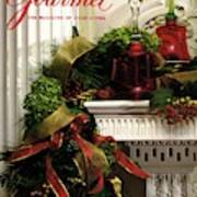 Gourmet Magazine Cover Featuring Christmas Garland Art Print