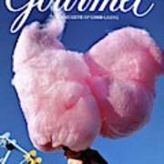Gourmet Magazine Cover Featuring Hand Holding Art Print