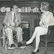 Governor George Wallace Meets Mrs Margeret Thatcher At The Art Print