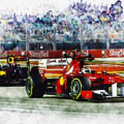 Gp Singapore F1  Art Print