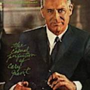 Gq Cover Of Actor Carey Grant Wearing Suit Art Print
