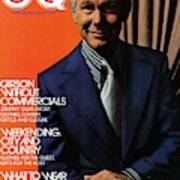 Gq Cover Of Johnny Carson Wearing Suit Art Print