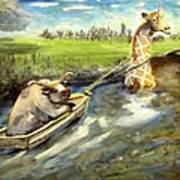 Grace And The Humbled Bull Art Print
