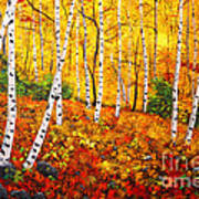Graceful Birch Trees Print by Connie Tom