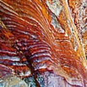 Graceful Grooves Rock In Petra-jordan Art Print
