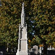 Graceland Cemetery - Garden Of The Dead Art Print by Christine Till