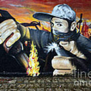 Graffiti Art Curitiba Brazil 10 Art Print
