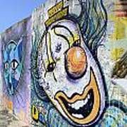 Graffiti Art Santa Catarina Island Brazil 1 Art Print by Bob Christopher