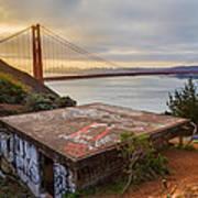 Graffiti By The Golden Gate Bridge Art Print by Sarit Sotangkur