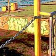Graffiti Dock Art Print