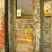 Graffiti Door - Ground Zero Blues Club Ms Delta Art Print