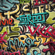 Graffiti Grunge Texture. Eps 10 Art Print