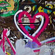Graffiti Heart Art Print