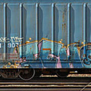 Graffiti - Ich - Blue On Blue Art Print
