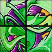 Graffiti In Green Art Print