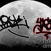 Graffiti On The Moon Art Print