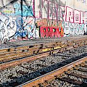 Graffiti On The Wall, Tenth Street Art Print