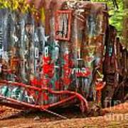 Graffiti On The Wreckage Art Print