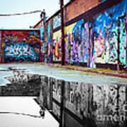 Graffiti Reflection Art Print