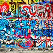 Graffiti Street Art Print by Bill Cannon