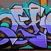 Graffiti Tangled Purple Art Print