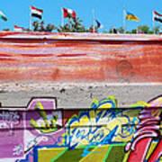 Graffiti With Flags Art Print