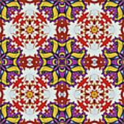 Graffito Kaleidoscope 40 Art Print
