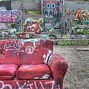 Grafitti Couch Art Print
