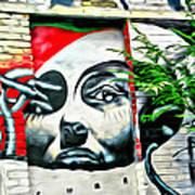 Grafitti Three Lady Art Print